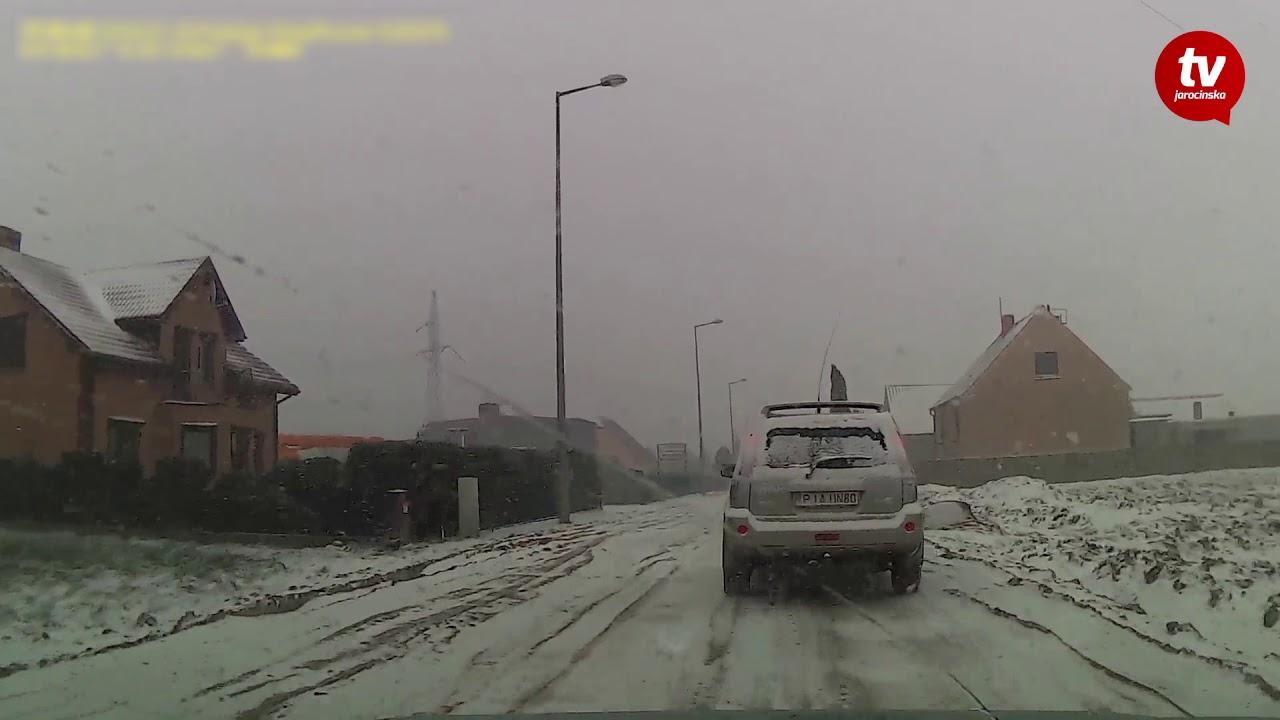 Drogi powiatu jarocińskiego. Pierwszy atak zimy 2018 r. [www.jarocinska.pl]