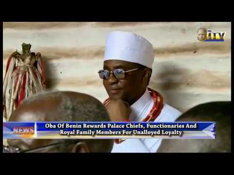 Oba Of Benin Rewards Palace Chiefs, Functionaries And Royal Family Members For Unalloyed Loyalty