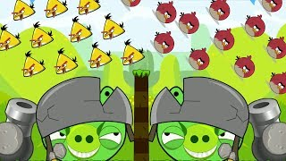 Angry Birds Cannon Hacked 1 - OVERDRIVE THROW TERENCE AND CHUCK TO THE HELMET BOSS PIG!