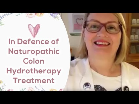 In defence of naturopathic colon hydrotherapy treatment