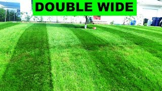 In my quest to have fun with the lawn, I'm trying out double wide l...