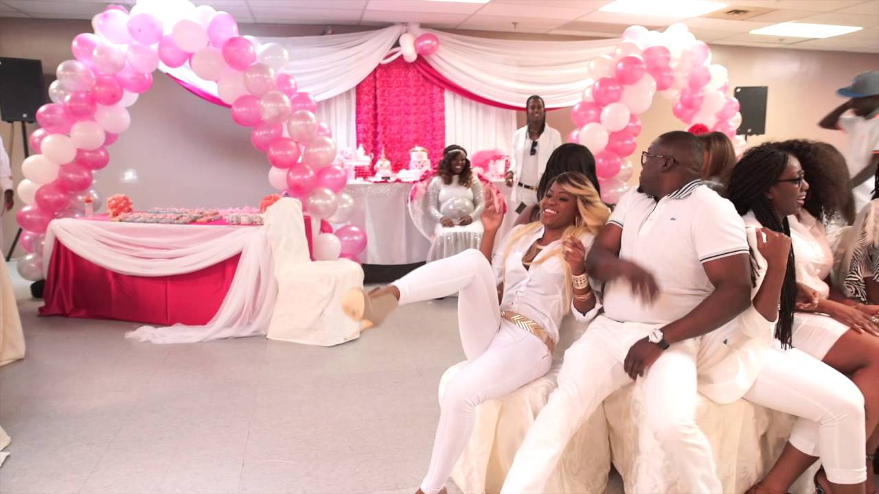 Shantea's All White Baby Shower - YouTube