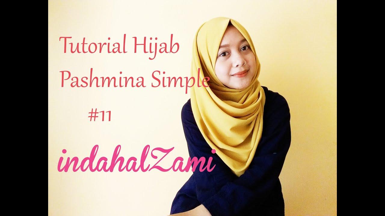 tutorial hijab pashmina simpel pashmina diamond italiano 11 indahalzami youtube