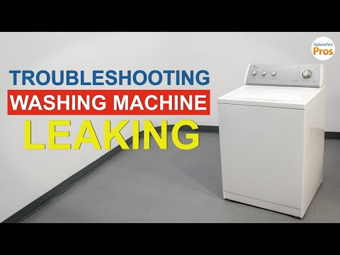 Washing Machine Leaking - TOP 6 Reasons & Fixes - LG, Samsung & Others