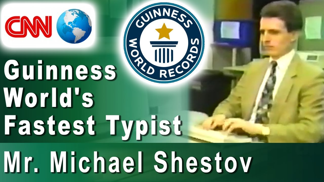 Guinness World's Fastest Typist, Mr  Michael Shestov, on CNN  Typing course  supremelearning com