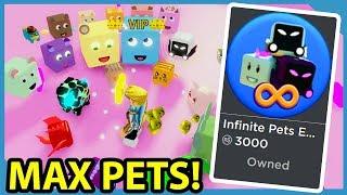 Buying The INFINITE PET GAMEPASS in Roblox Youtuber Simulator *Most Subscribers*