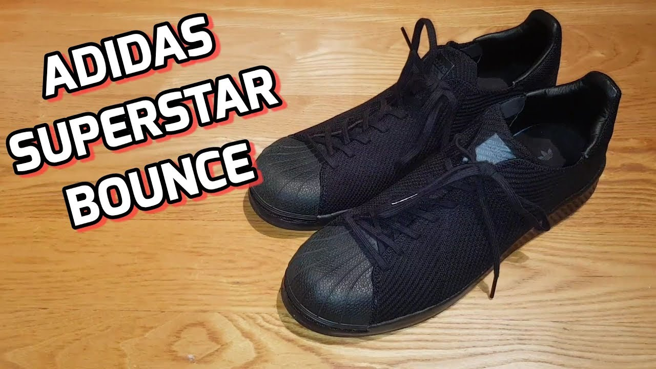 f215e0f3d Adidas Superstar Bounce Primeknit Unboxing And Review - YouTube