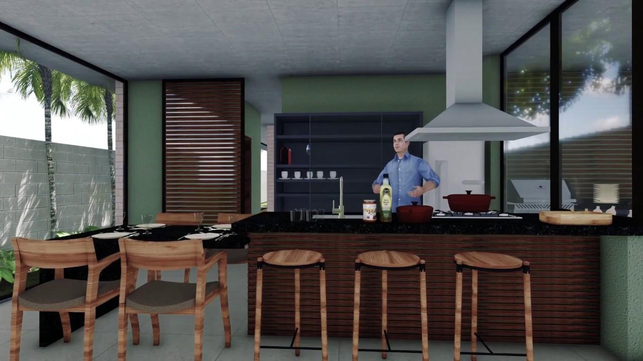 Cozinha E Area Gourmet Construindo Minha Casa Clean Tipos De Pedras