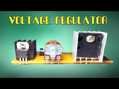 High power voltage regulator circuit using lm317