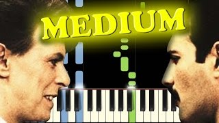 QUEEN & DAVID BOWIE - UNDER PRESSURE - Piano Tutorial