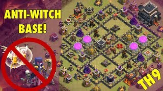 TH9 Anti-Witch Base: Defend the Witch Slap! (Tips and Tricks)