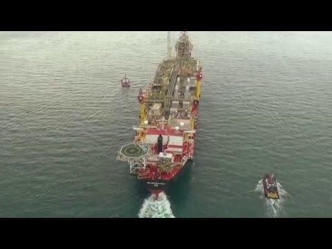 Tullow TEN Project FPSO sail away