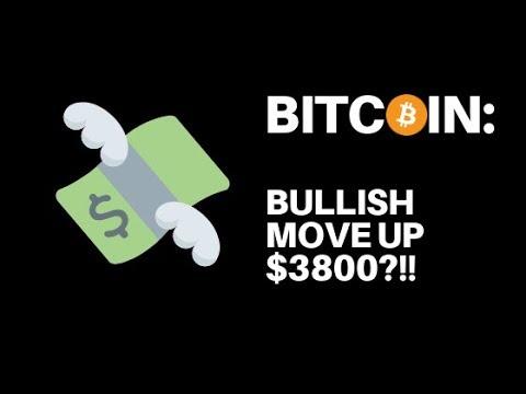 Bitcoin: Bullish move up naar $3800?!!