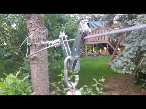 DIY Backyard Zip Line Setup