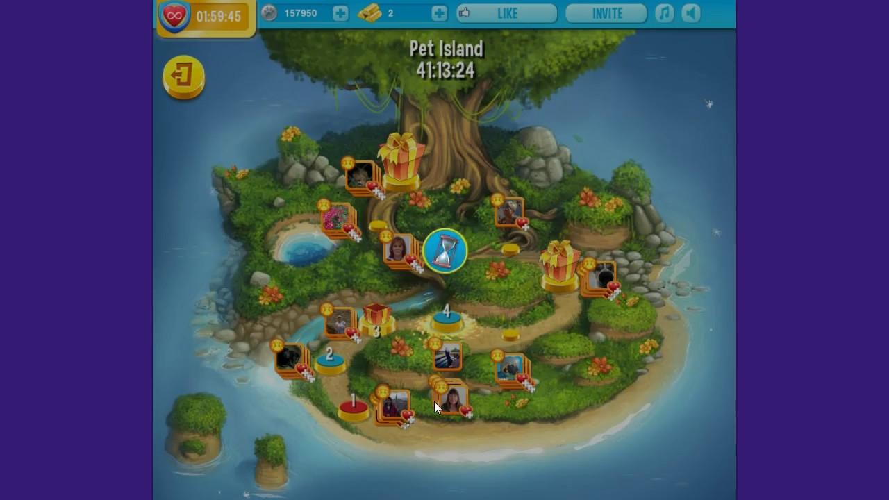 Pet rescue saga island level 3 and 4 and 5 14th 16th for Pet island level 4
