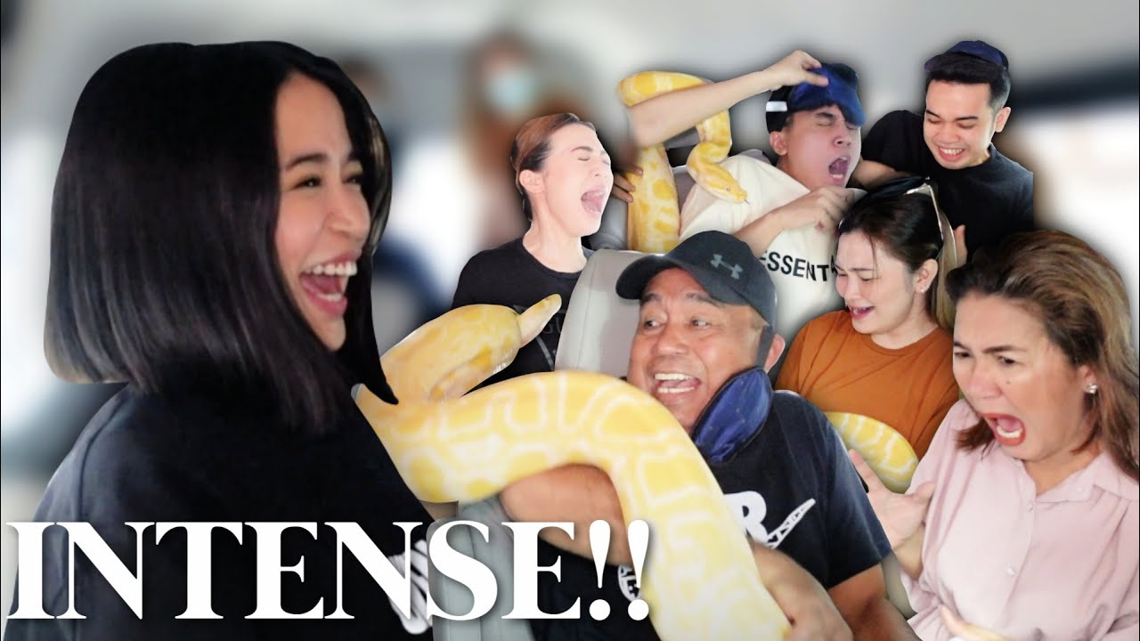 SCARING MY FAMILY WITH A GIANT SNAKE!!