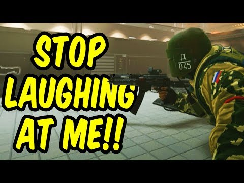 Stop laughing at me!! - Rainbow Six Siege Funny Moments (Sie