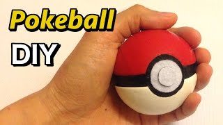 How to make a Pokeball from a tennis ball.