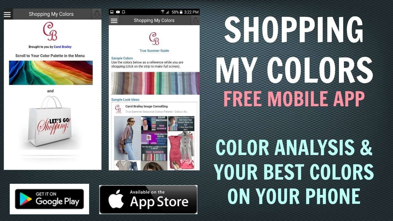 Shopping My Colors Free Color Analysis App | Best Colors For Skin ...