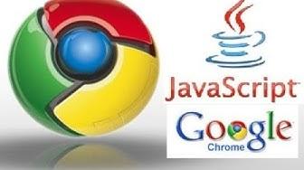 Activer JavaScript dans Google Chrome