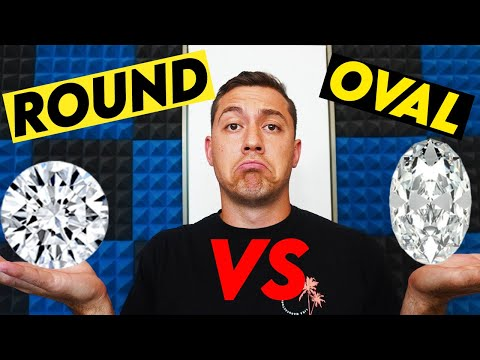 Oval Vs Round Diamonds WITH REAL DIAMOND VIDEOS   The Ultimate Guide!
