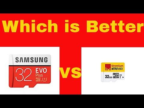Samsung Evo plus 32GB Microsd vs Strontium Nitro 32GB - Which is Better