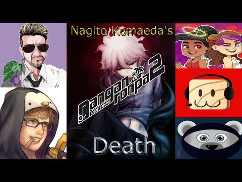 YouTubers React to Nagito Komaeda's Death | SDR2