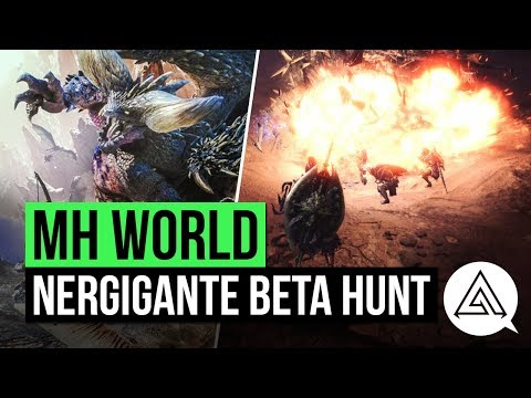 Monster Hunter World | Nergigante Beta Hunt Gameplay