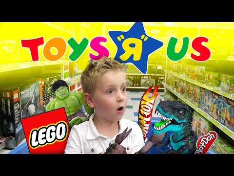Toys R Us Shopping and Toy Haul for LEGO, Play-Doh, Superheroes & Angry Birds Toys | KIDCITY