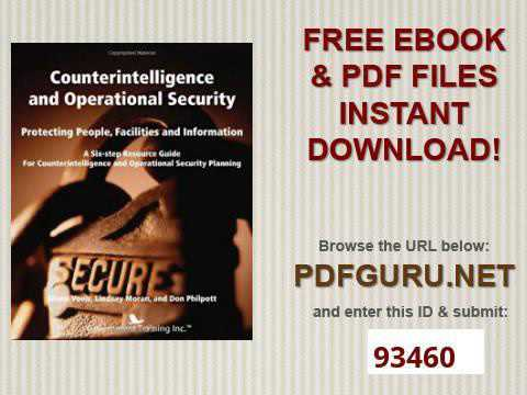 Counterintelligence and Operational Security