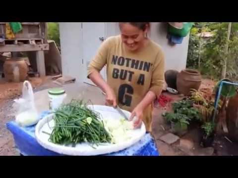 วิธีการทำส้มผักกาดใส่ใบหอม สูตรสาวอีสานบ้านทุ่ง
