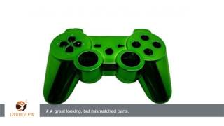 GameXcel ® Green Chrome Finished Replacement Playstation 3 Controller Shell Case Kits Buttons |