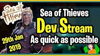 Sea of Thieves Developer Stream 29th Jan Recap