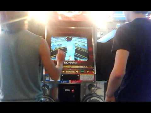 My friends plays DDR