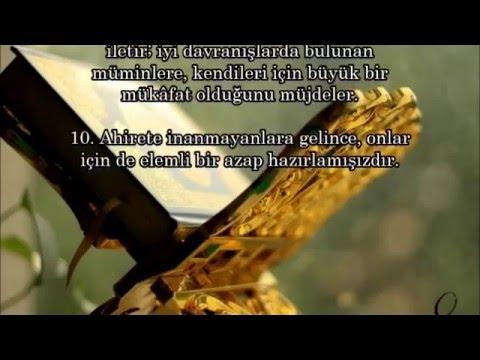 Prof. Dr. Yaşar KURT - İsra suresi (1 -10.ayetler)