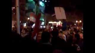 منقبة ترفع صورة السيسي- سيدي جابر 25/1/2014