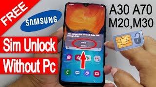 Samsung Free Sim Unlock M10,M20,M30,A40,A50,A70,A80 #AndroidUnlock