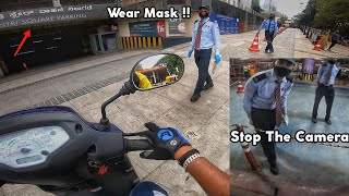 Security Said To Stop The Camera😠- I Went To Mantri Mall In Bangalore To Buy?|Bike Ride Difficulties