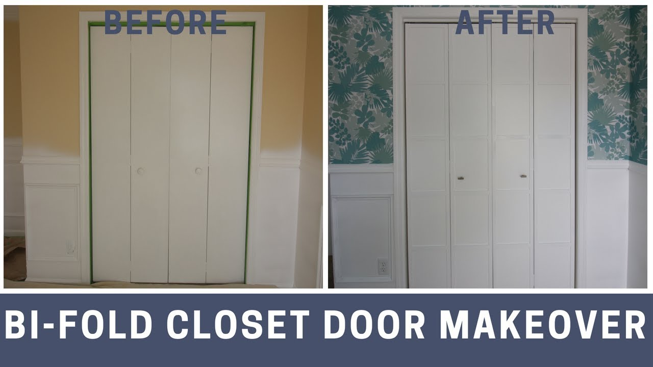 Bi Fold Closet Door Makeover Youtube