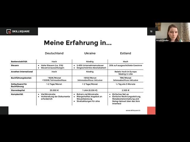E-Residency Webinar: Wie eine Müncherin eine multinationale HR-Platform aufbaute?