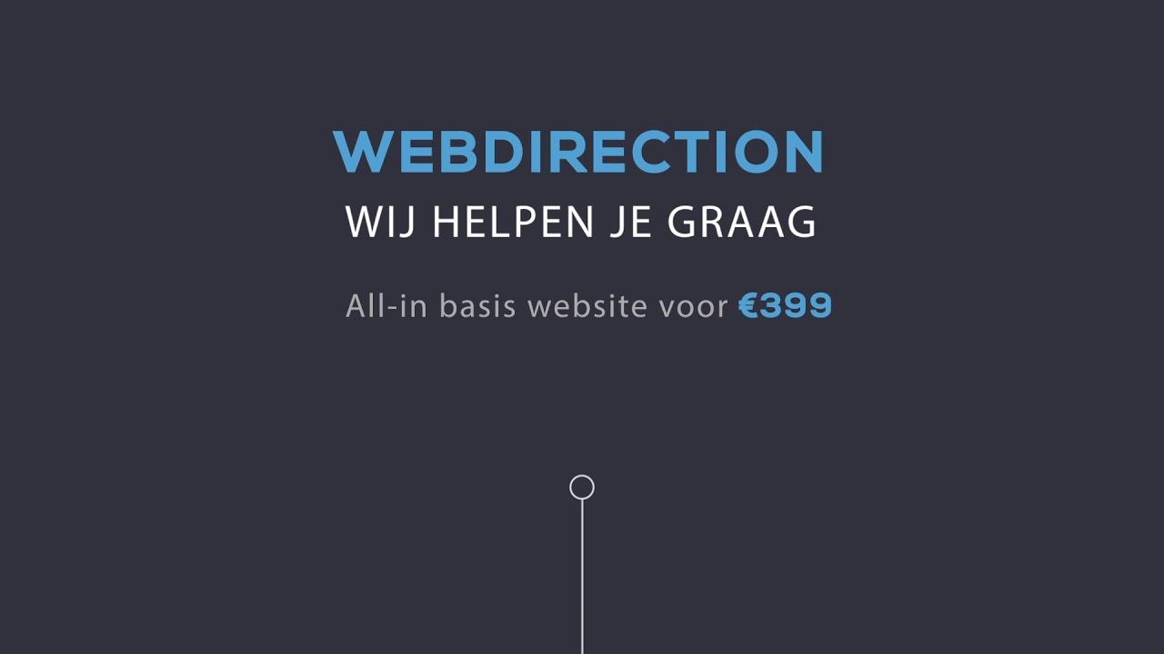 Website laten maken Basis website 399 incl BTW   Webdirection
