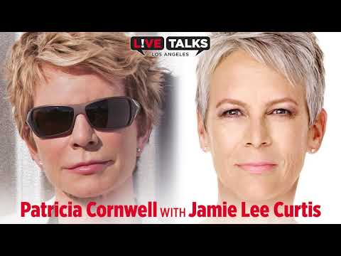 """Patricia Cornwell with Jamie Lee Curtis at Live Talks Los Angeles discussing her novel, """"Spin"""""""
