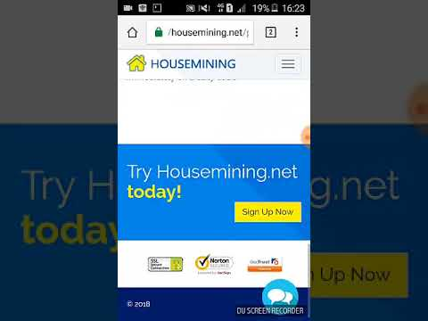 Housemining free 100 Gh/s baru aktif 3 hari dan minimal .