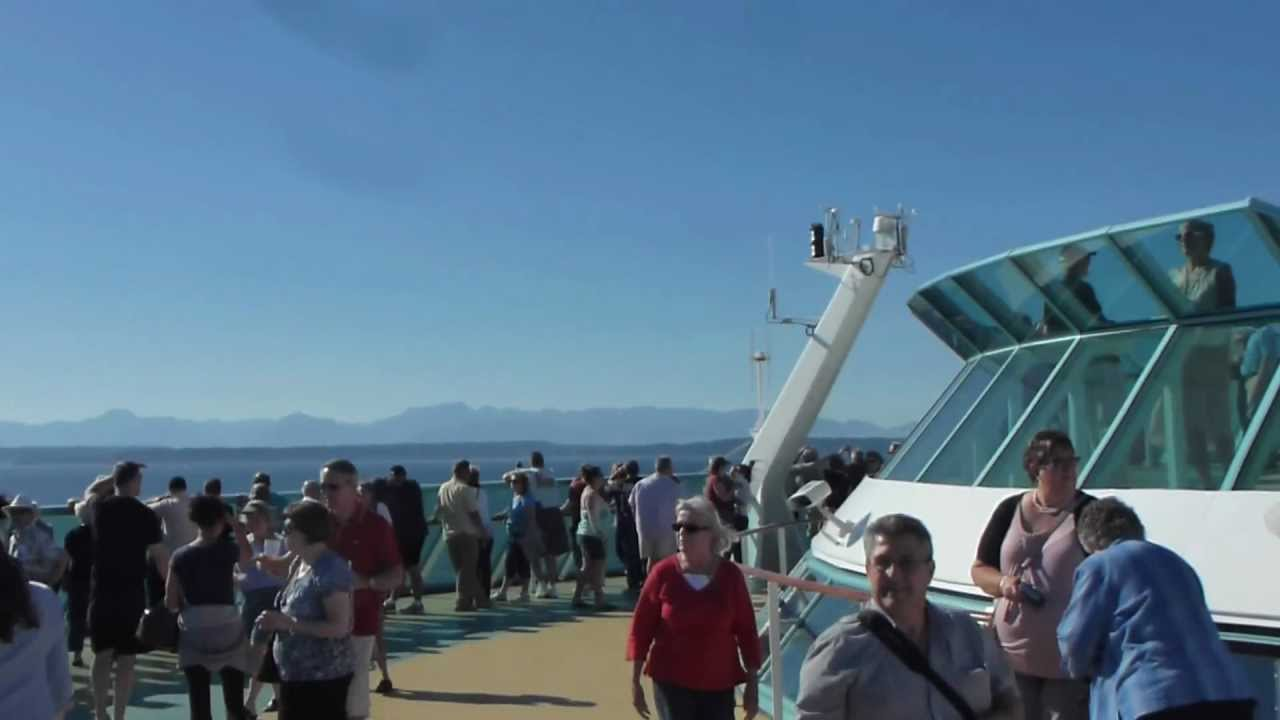Cruise Ship Leaving Seattle Heading To Alaska And Canada YouTube - Cruises from seattle