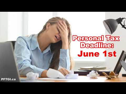 Calling All Procrastinators: Your Personal Income Tax Return Is Due June 1st
