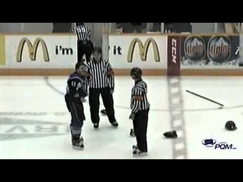 Mack Weegar vs Jonathan Huberdeau Dec 9, 2012