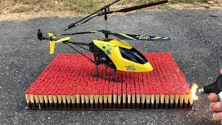EXPERIMENT: 10 000 MATCHES VS RC Toy Helicopter !! Amazing Reaction Experiment