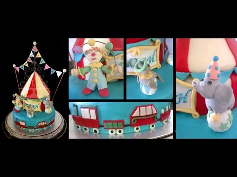 How to make a Circus themed birthday cake YouTube