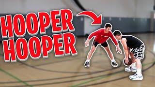 1v1 BASKETBALL AGAINST A COLLEGE HOOPER HOOPER!