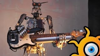 �������� ���� Robot-metal band Compressorhead - FULL! concert in Moscow in 18.05.2014! ������